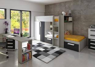 7a6126f6088dc Detská izba s poschodovou posteľou B - graphit