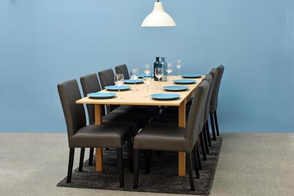 5b528c49fee3 Okrúhly rozkladací jedálenský stôl Nova - čierny