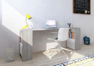 184f75a7b438e Písací stôl 200 cm s regálmi Whitney - Dub molina