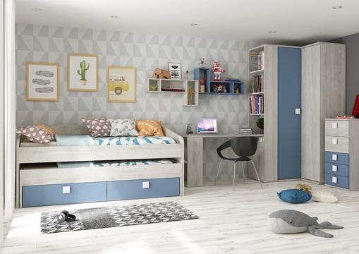 ebe4546c1ca Nábytok do detskej izby B2 pre chlapca - kolekcia Smoky Blue