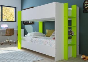 3e6809404bec Poschodová posteľ pre dve deti Bob - biela