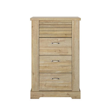 Komoda do spálne v country dizajne Thelma light oak small