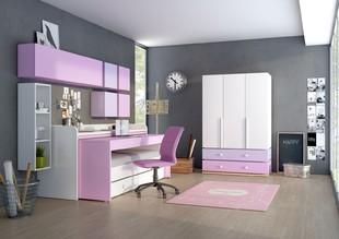 986592fdccac9 Najviac miesta v detskej izbe ušetríte riešením miesta na spanie. V návrhu  sme zvolili poschodovú posteľ, ktorá však nie je určená pre dve deti, ale  jedno.